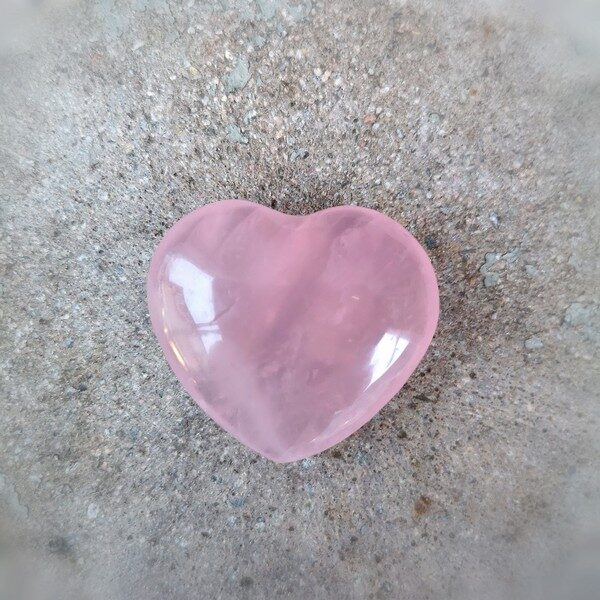 hjärta rosenkvarts dekoration