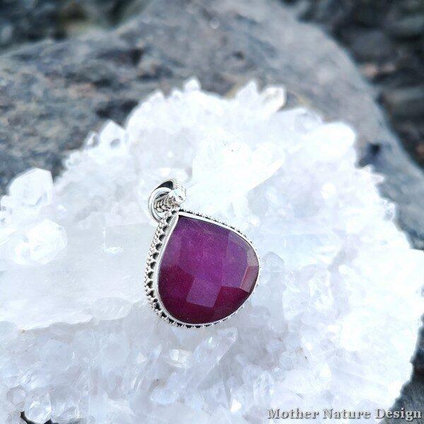 halsband rubin silver