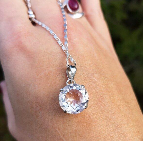 silverhalsband bergkristall